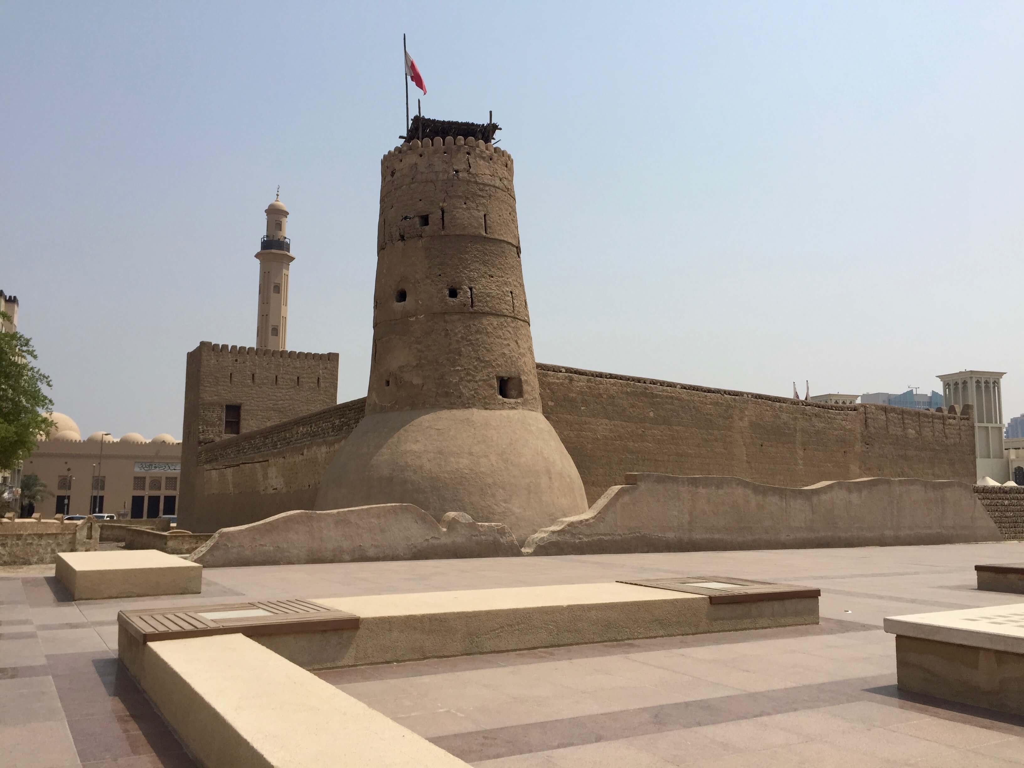 A traditional sandstone building in Dubai - The Dubai Museum