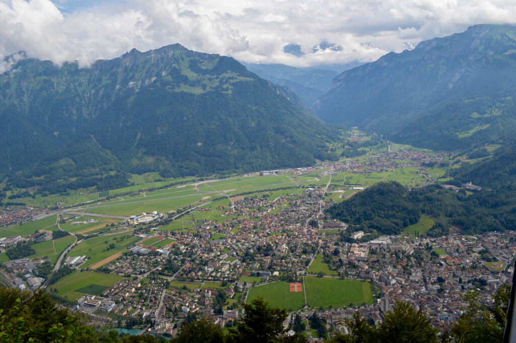 View of the town from the Interlaken lookout