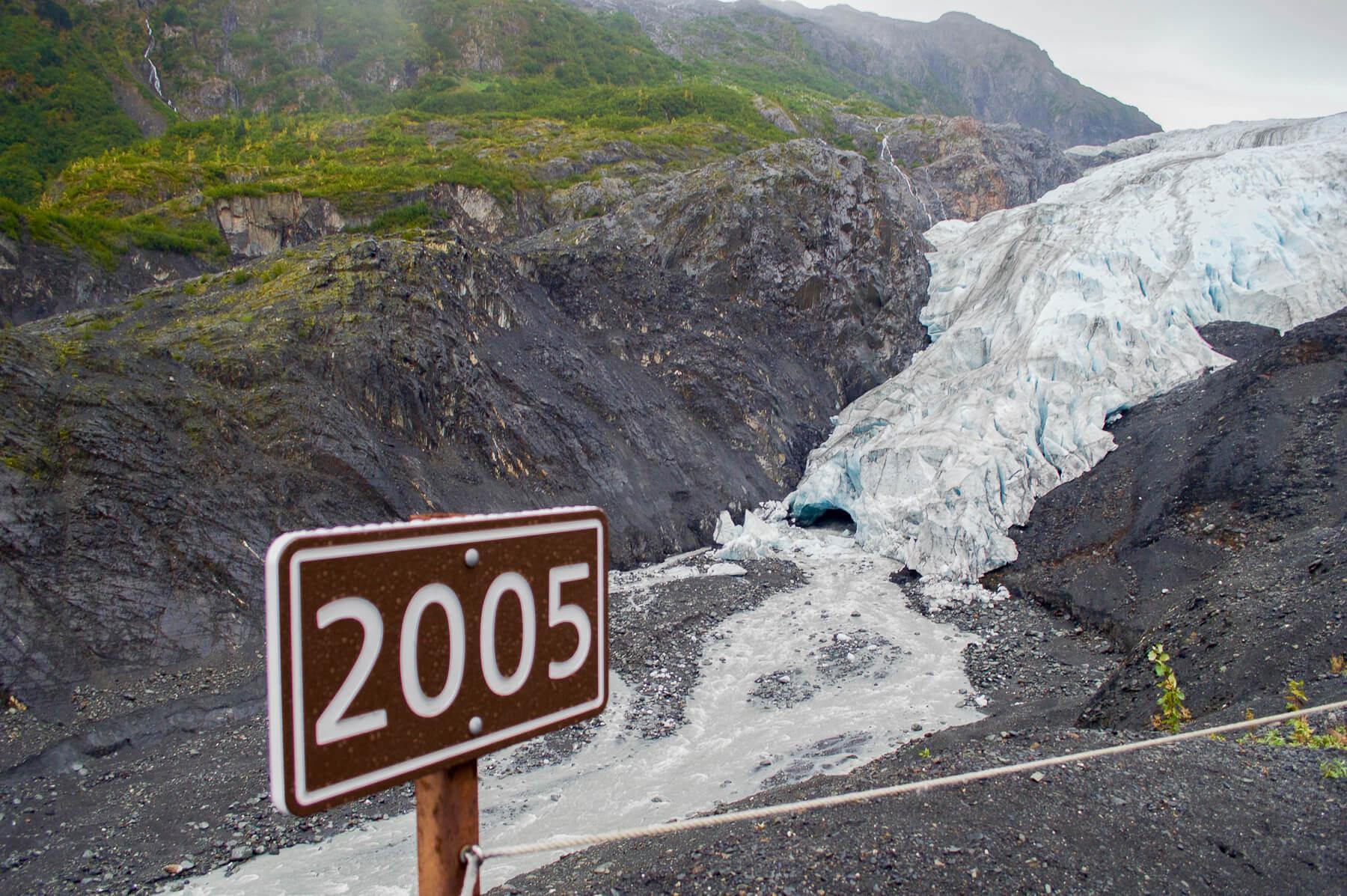 exit glacier comparison from 2005