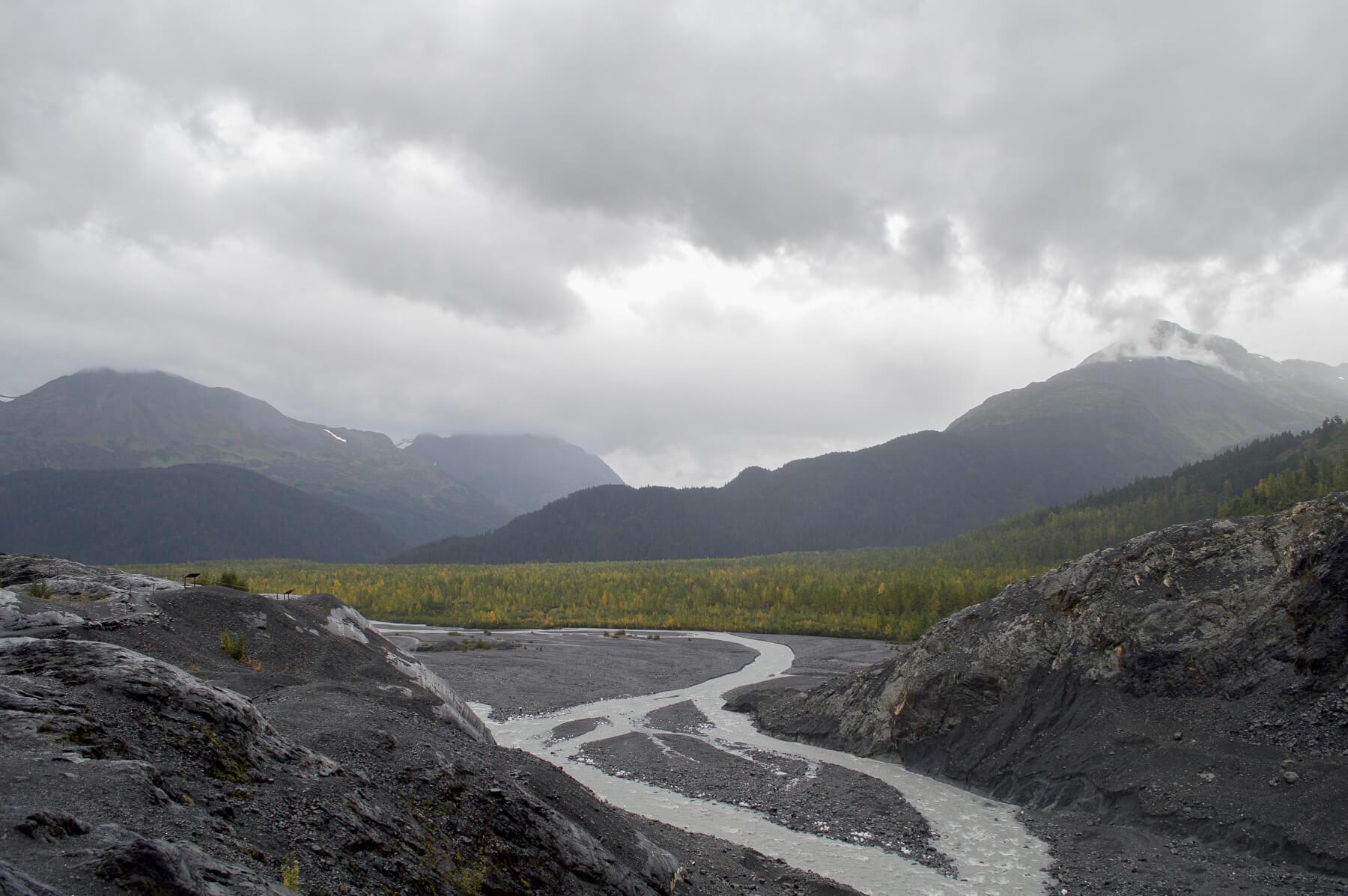 glacier run off in kenai fjords national park