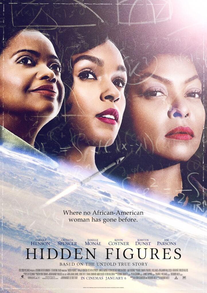 """3 African American Women at NASA - """"Hidden Figures"""" Movie Poster"""