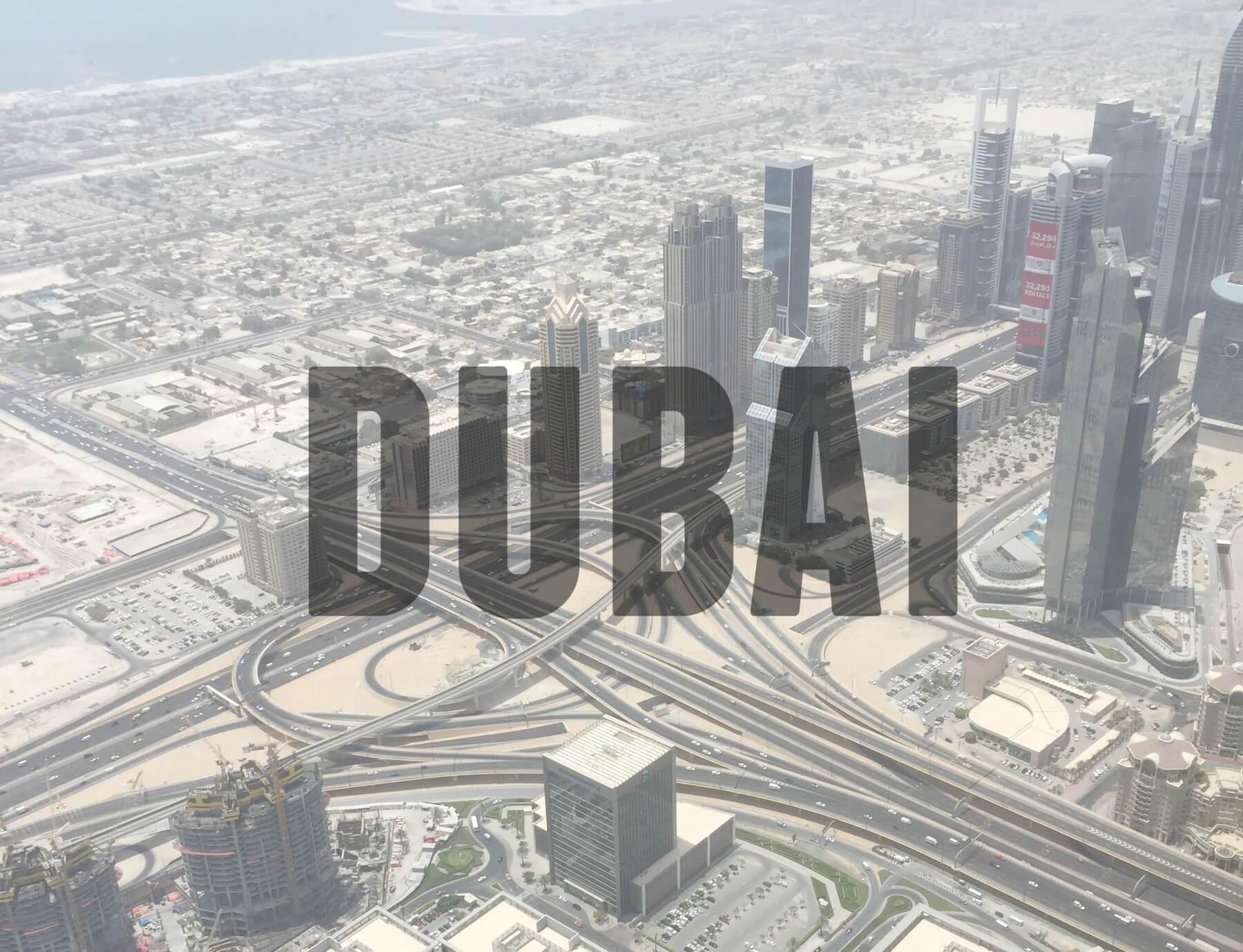 'DUBAI' (View from top of Burj Khalifa)