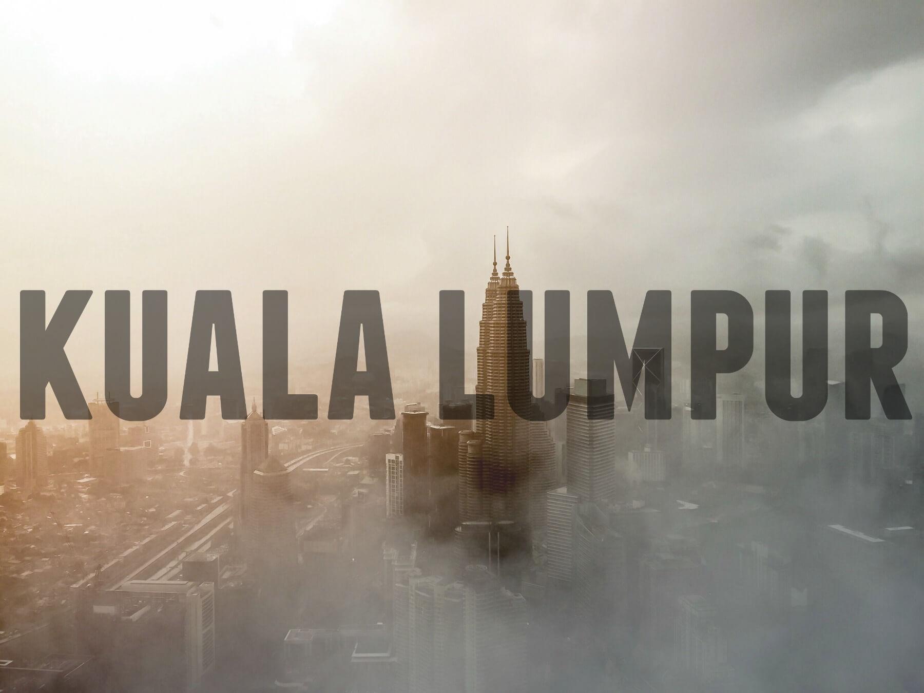 'KUALA LUMPUR' (Foggy view of city)
