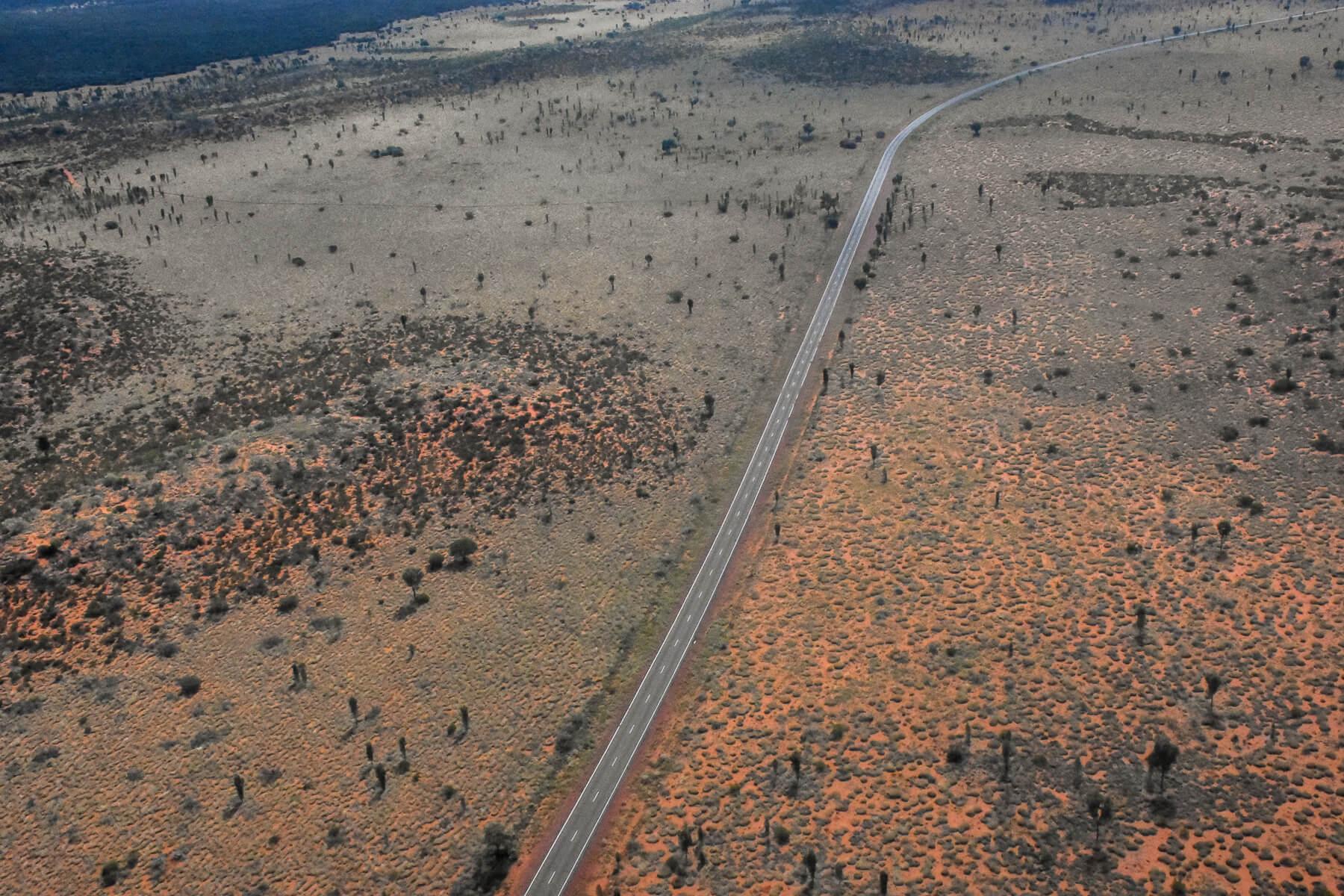 Road through Uluru/Kata Tjuta National Park