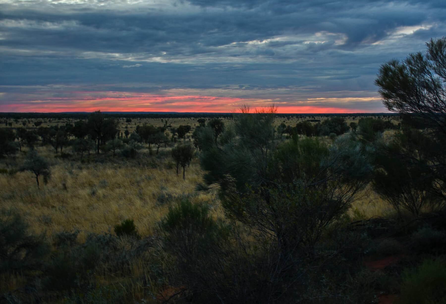 Sunrise over the Australian Outback