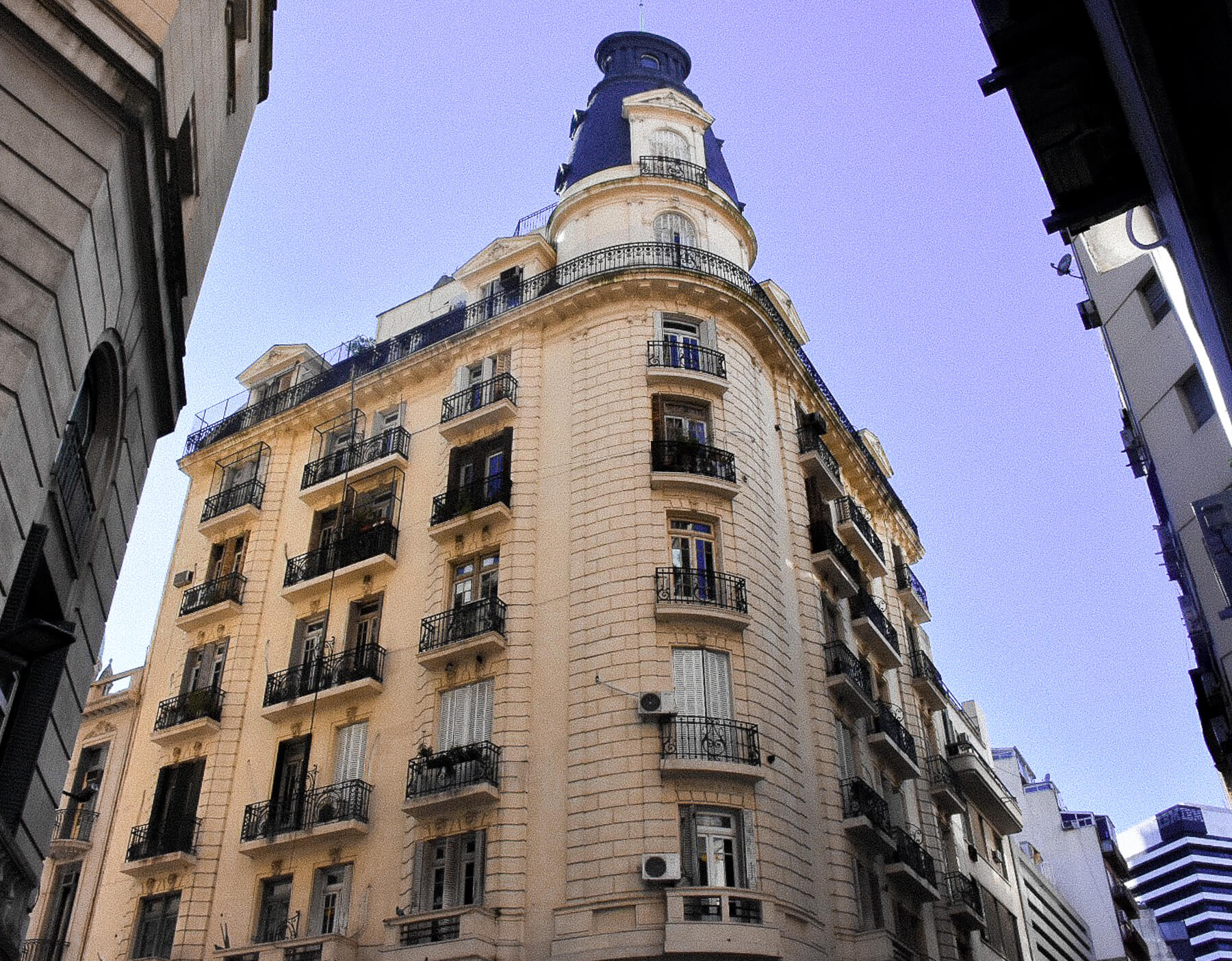 Looking up at the architecture of Buenos Aires